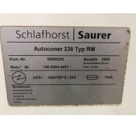 Used Schlafhorst Autoconer 338 Machine