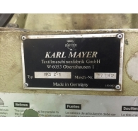 Used Karl mayer tricot warp knitting machine